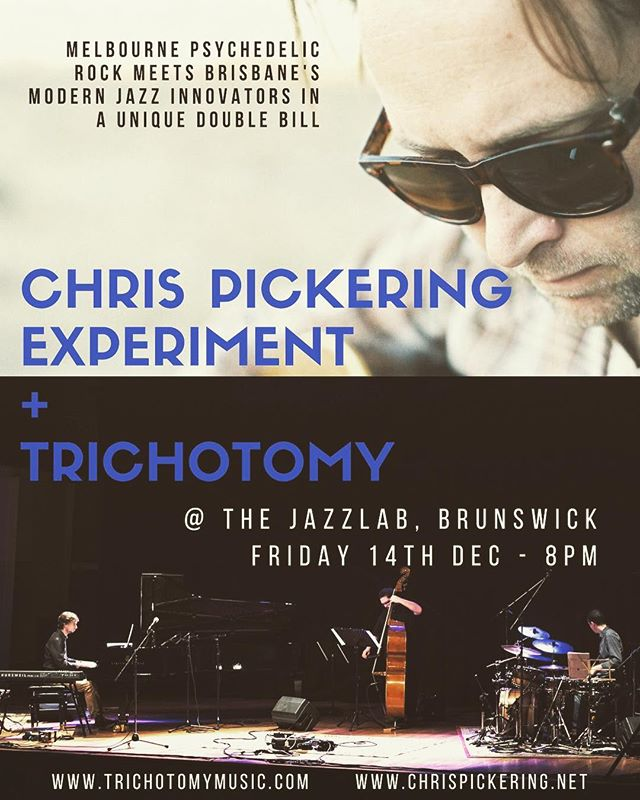 This is a real photo of me playing with my new @trichotomyband Trio Diorama Playset™! I love it so much that The Experiment will be playing a show with the real Trichotomy at @thejazzlab in Melbourne on Friday Dec 14th, featuring a special 'double-band' set. What a treat. Ticket link in Bio.
