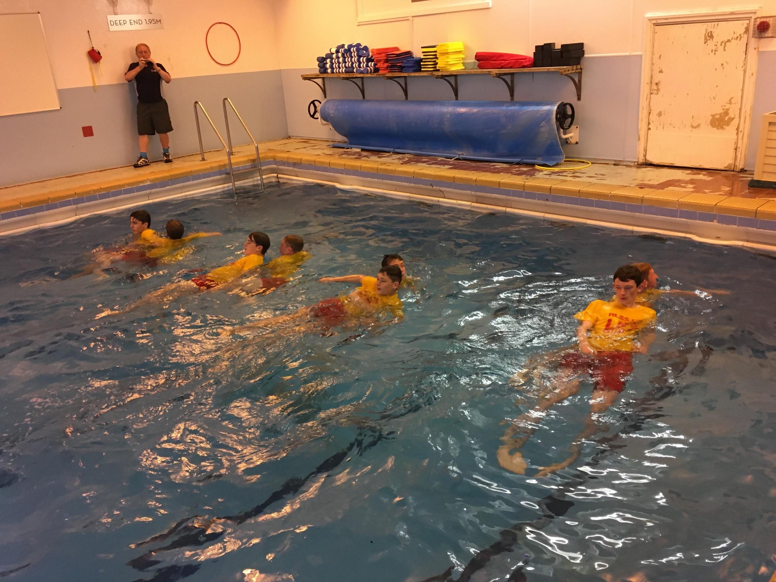 action shot swimming