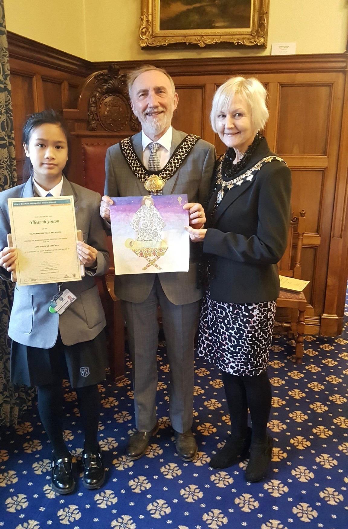 Lord Mayor with Ylleanah