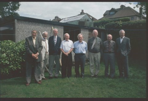 Reunion picture from Jim winkley of 'the lads' they were all from 1944-1952