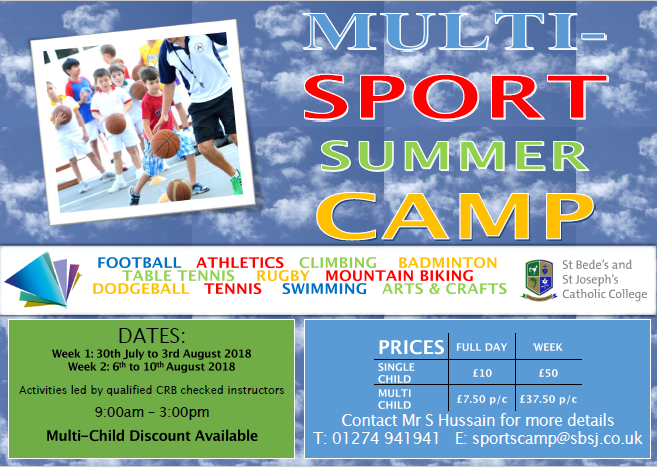 sports camp advert