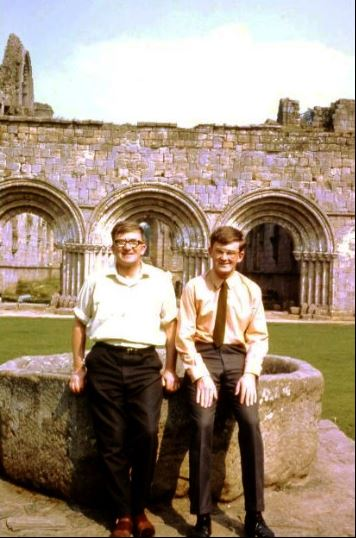 father and son Fountains Abbey 1966.png