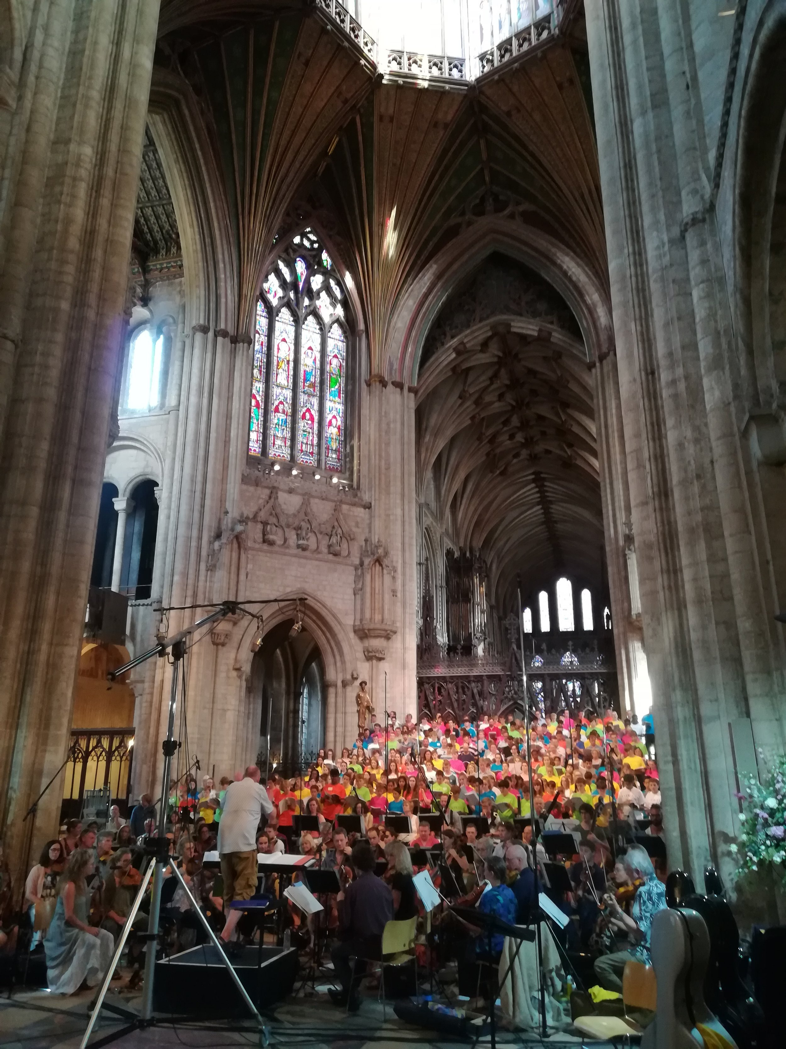 Recording with the Gabrieli Consort and other leading youth choirs in Ely Cathedral