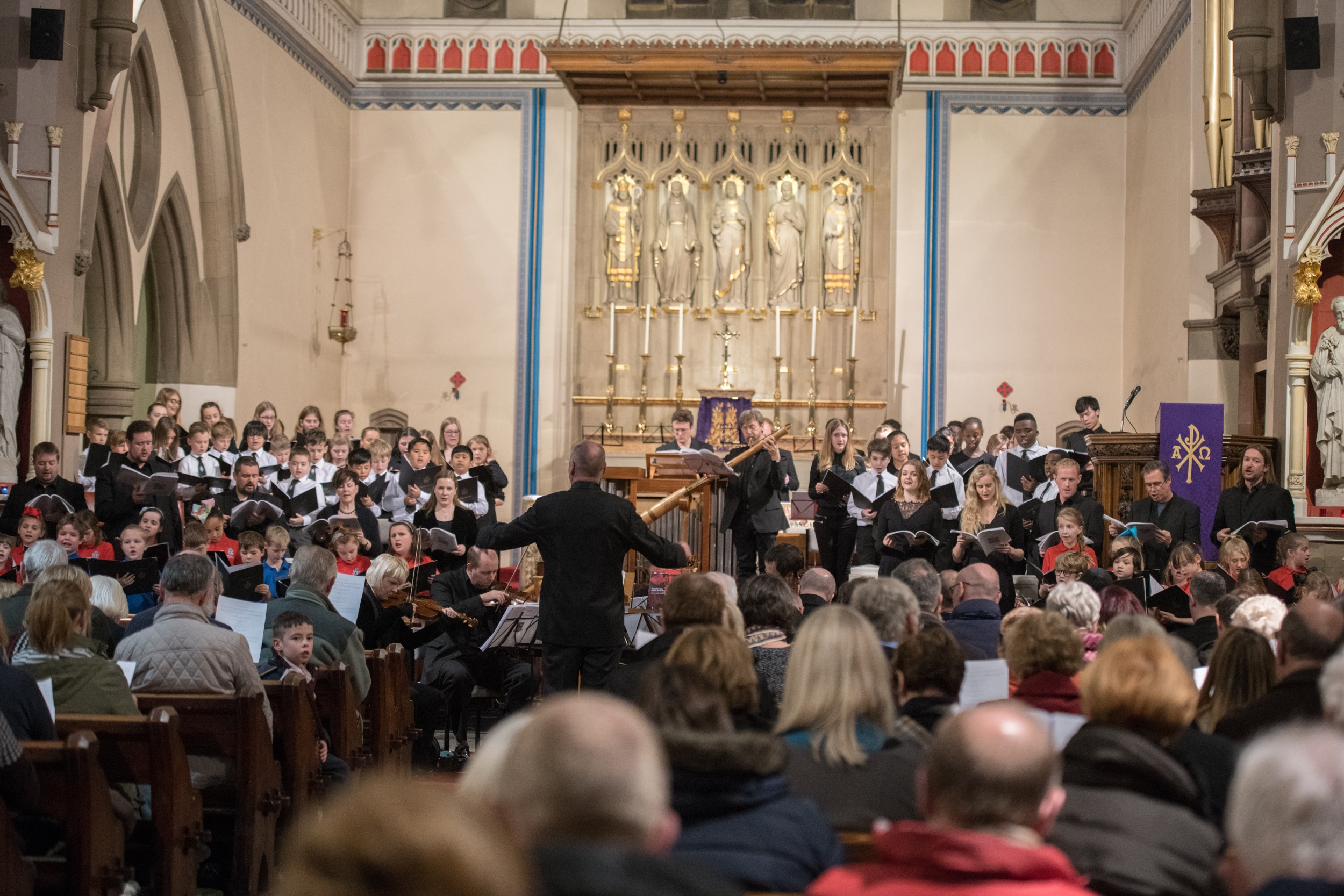 BCYC perform with the Gabrieli Consort and Players in St Joseph's Church