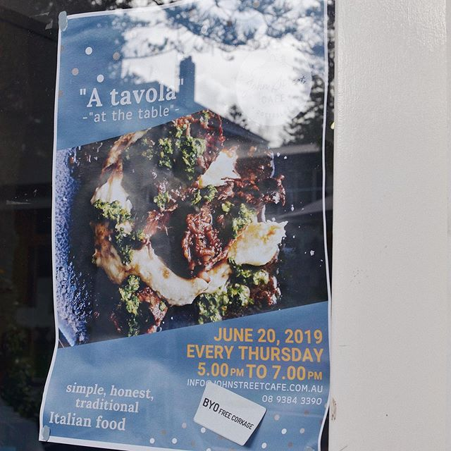"""A tavola"" this Thursday night! - - - #perthtakeaway #supportlocal#perthfood #perth #perthlife #perthisok #pertheats #perthfoodie #visitperth #perthwa #perthgram #perthbites #perthigers #perthdaily #cottesloebeach #instagood #perthnow #perthisokay #perthlifestyle #perthtodo #soperth #instaperth #pertheats #ozeatingwa #feedmeau #wagoodfood #weekendfeeling @perthyums @perth_gram @perthfoodadventures @perthgrub"