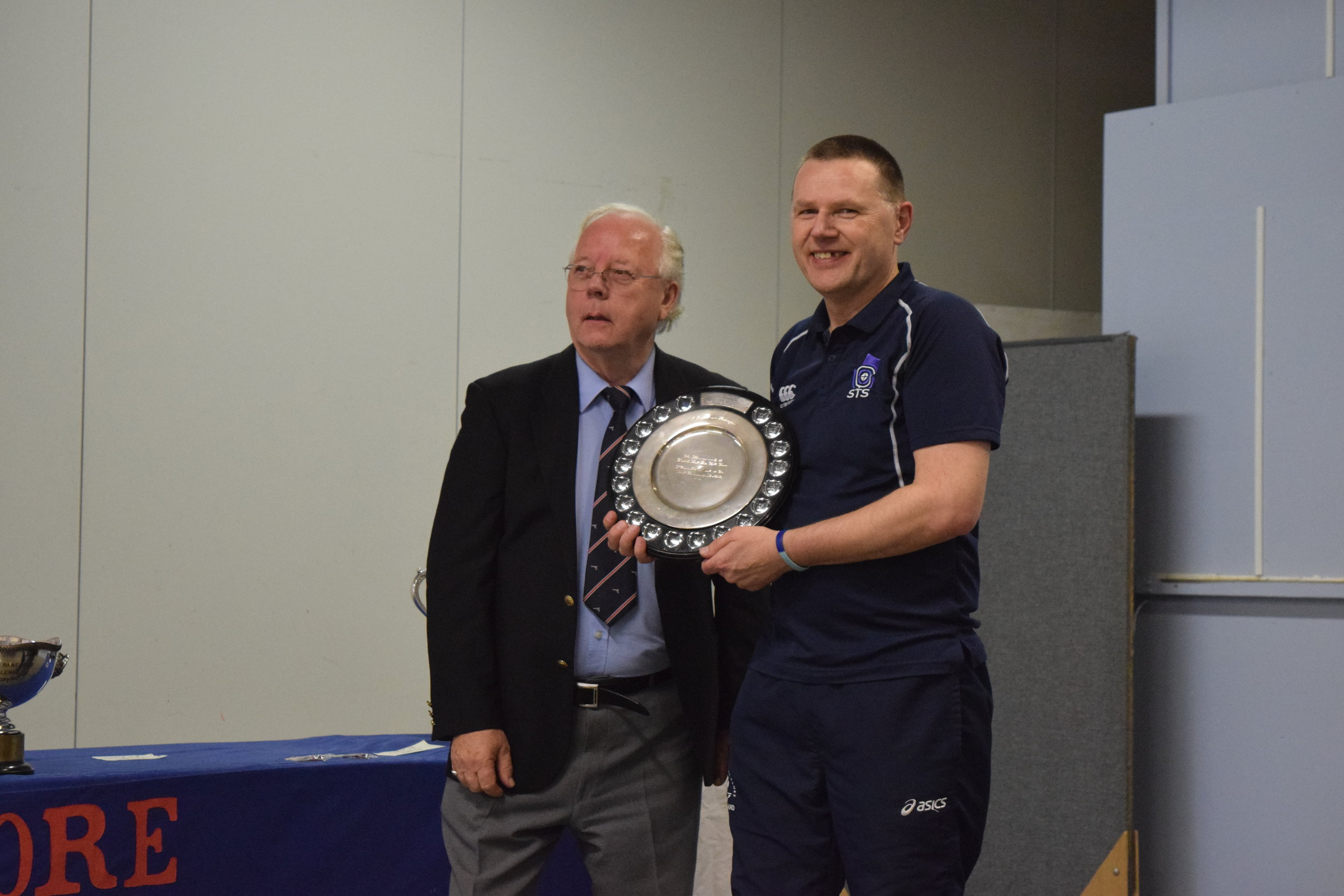 David Owen being presented with the 50M Free Pistol Shield