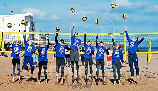 Seonaid McIntosh tries her hand at Volleyball