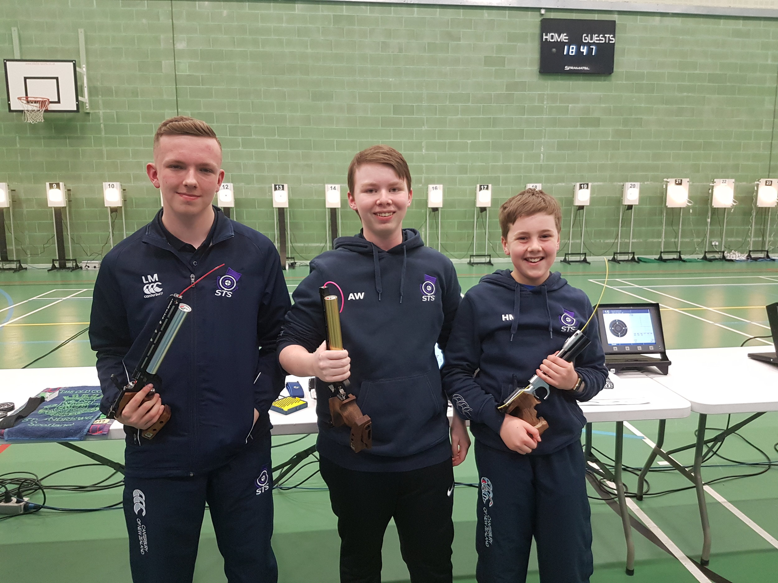 Winners - Men's Junior 10m Air Pistol Championships
