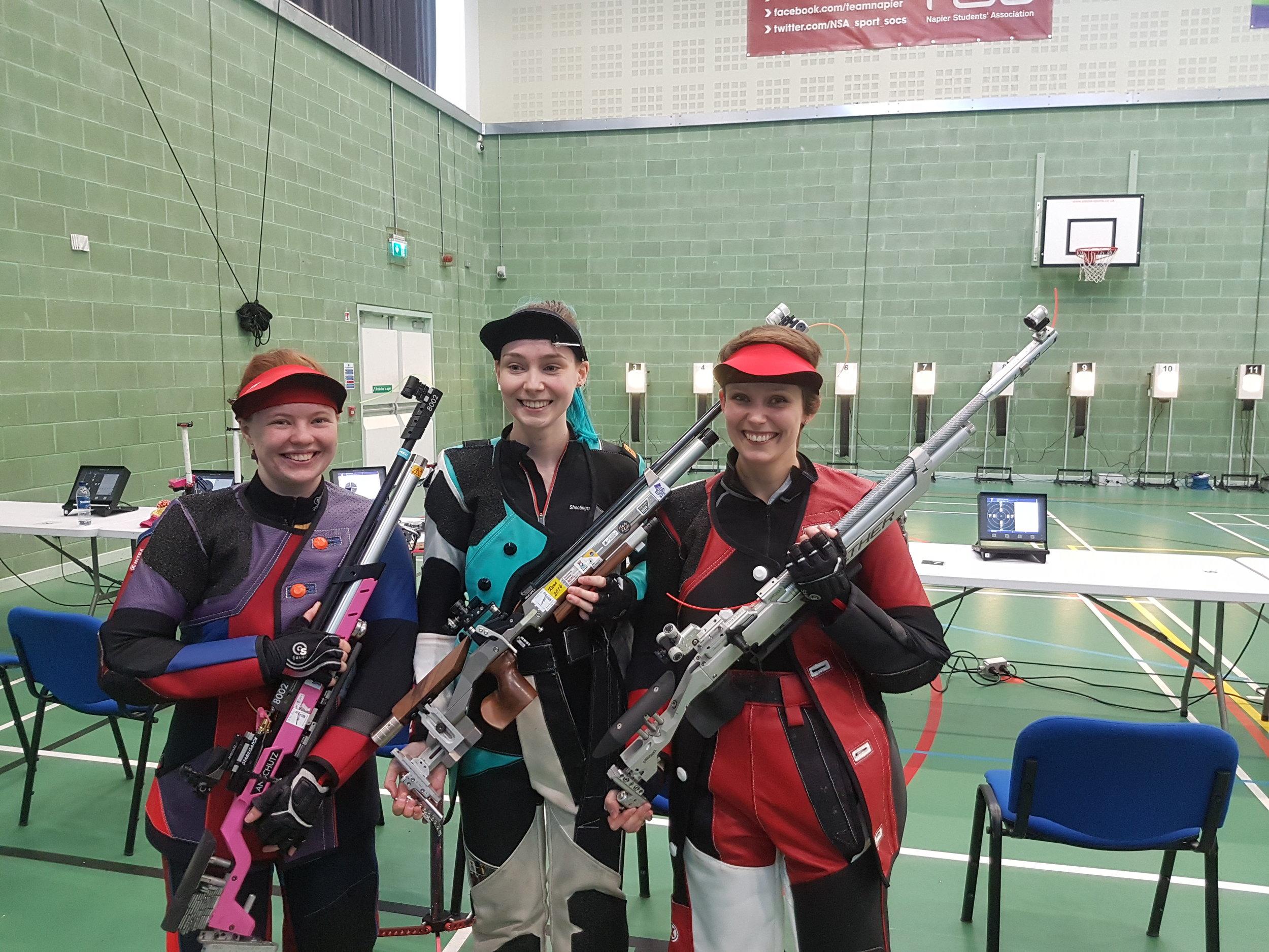 Winners - Women's 10m Air Rifle Championships