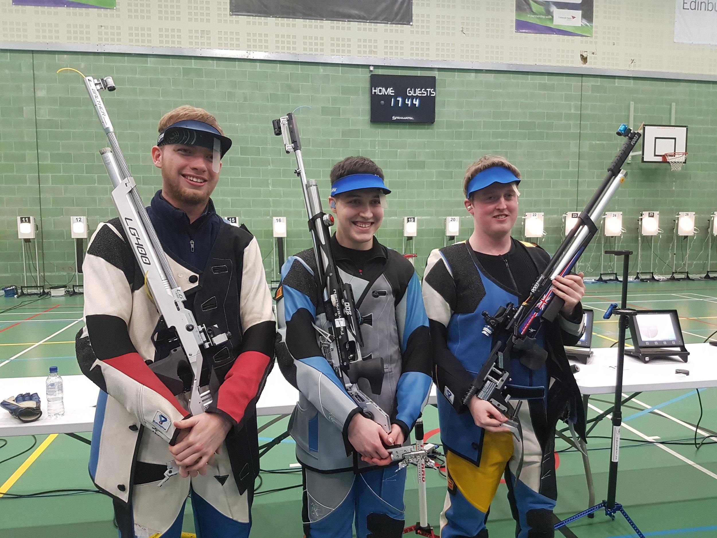 Winners - Men's Junior 10m Air Rifle Championships