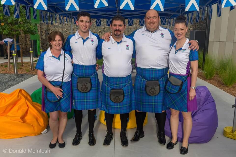 Linda Pearson, David McMath, Marco Micheli (Coach), Calum Fraser, Sharon Niven