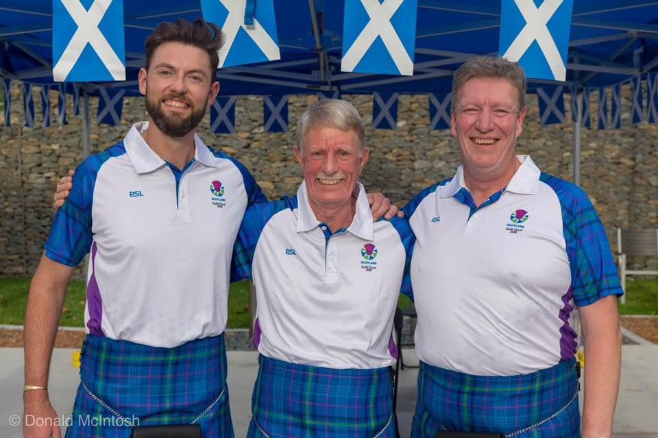 Sandy Walker, Lindsay Peden (Coach), Ian Shaw
