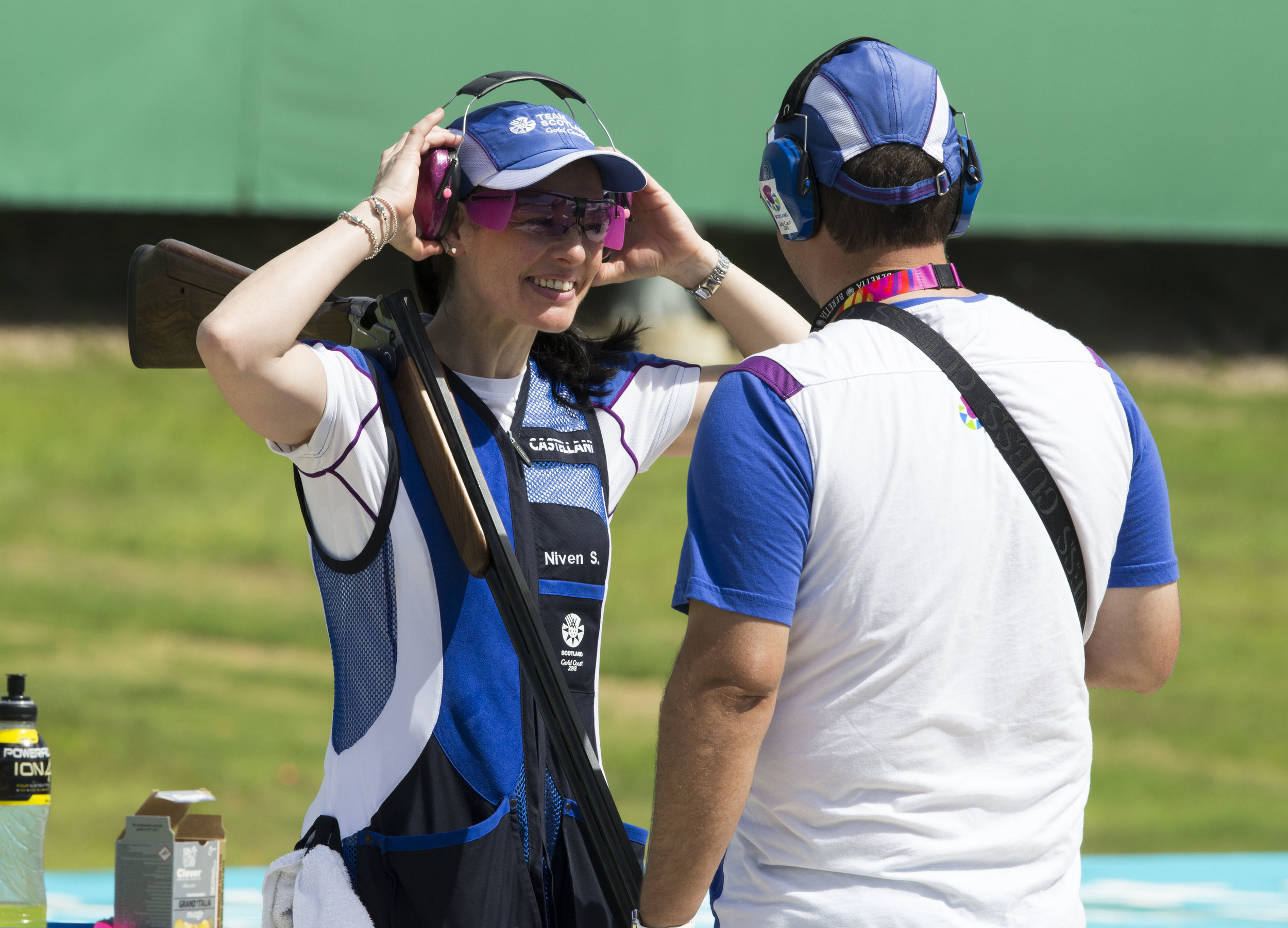 Sharon will be looking to emulate Linda's success in the Women's Skeet tomorrow