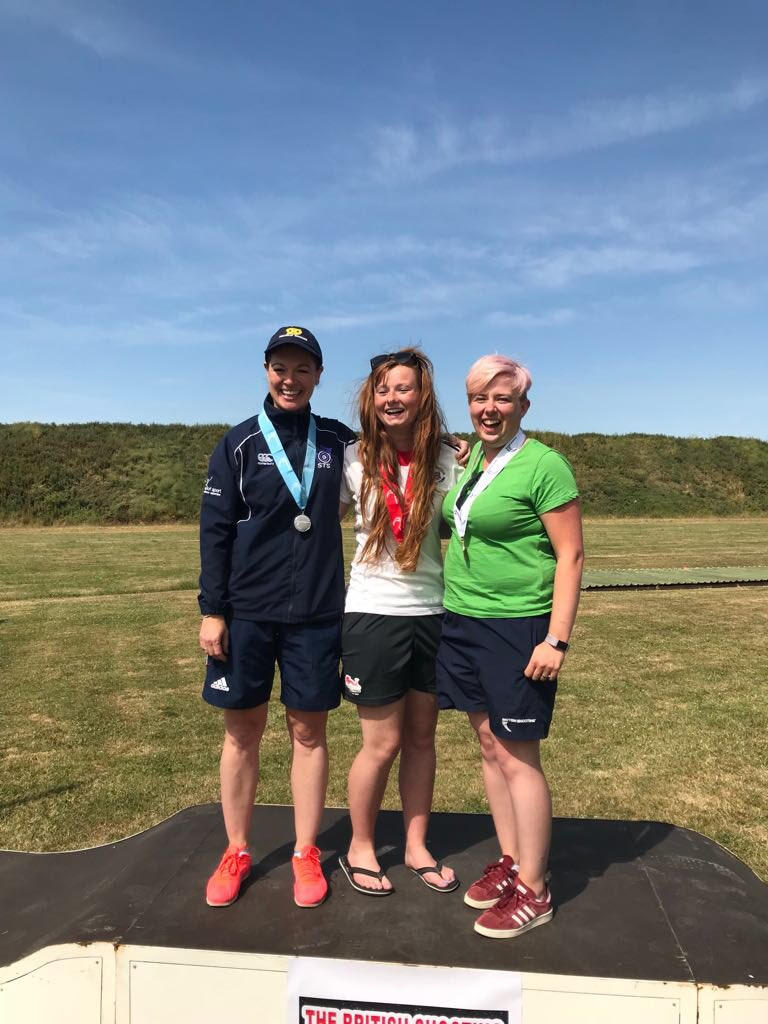 Sharon (left) came away with a silver medal