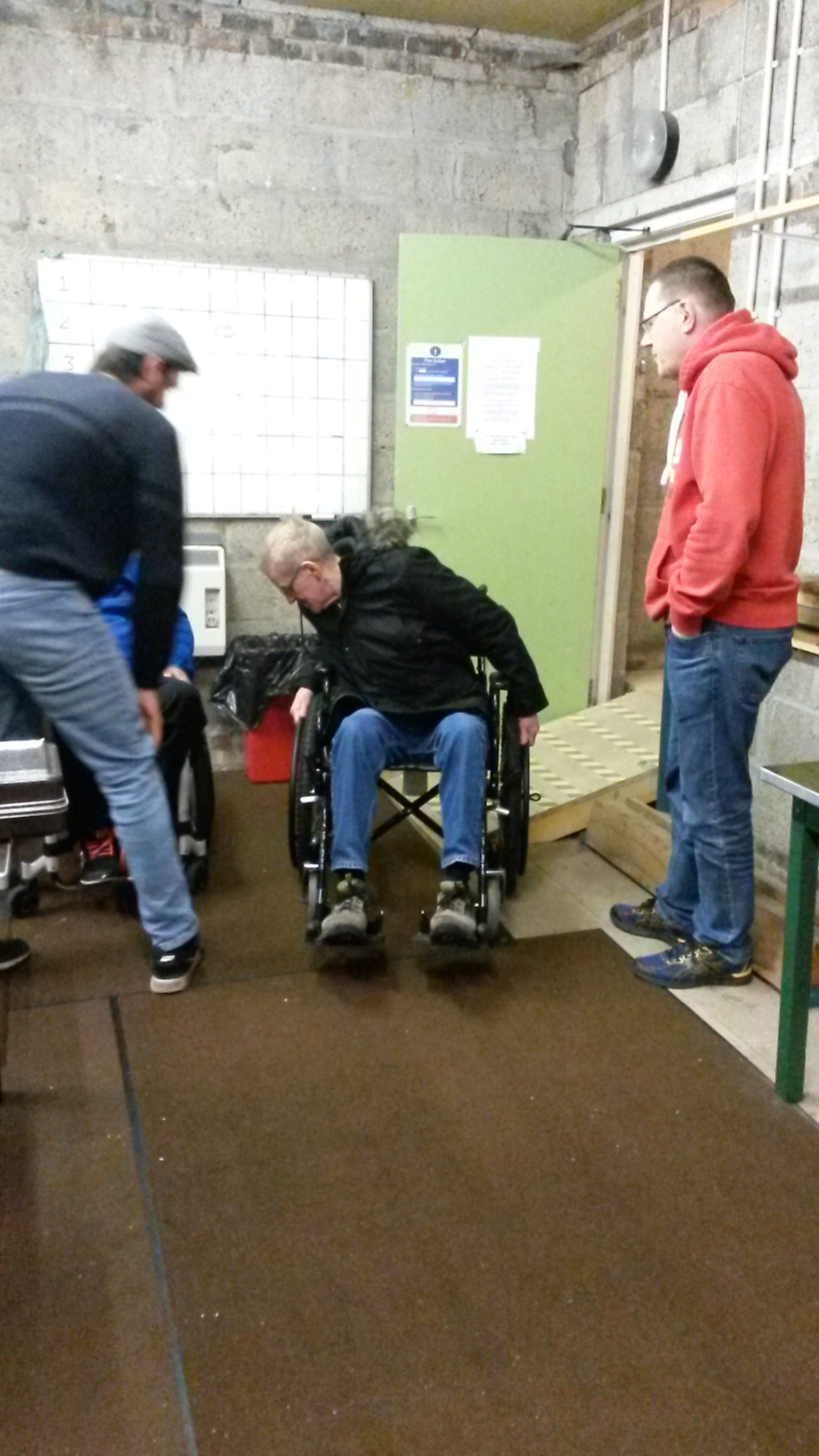 Participants getting involved in the wheelchair challenge