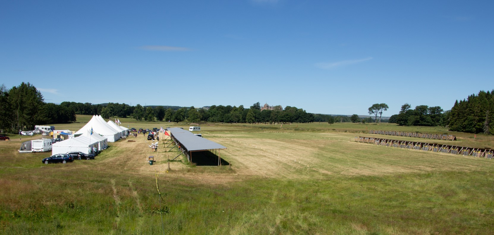 The range at Thirlestane Castle, Lauder for the Scottish National Smallbore Rifle Meeting