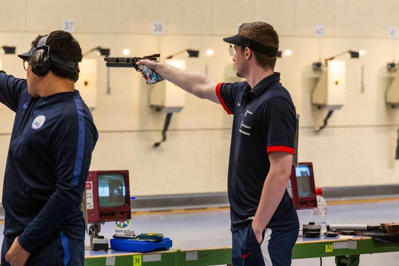 Aedan competing in Munich