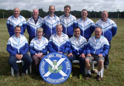 Ian as part of the Scottish contingent at the NSRA's National Rifle Meeting at Bisley several years ago