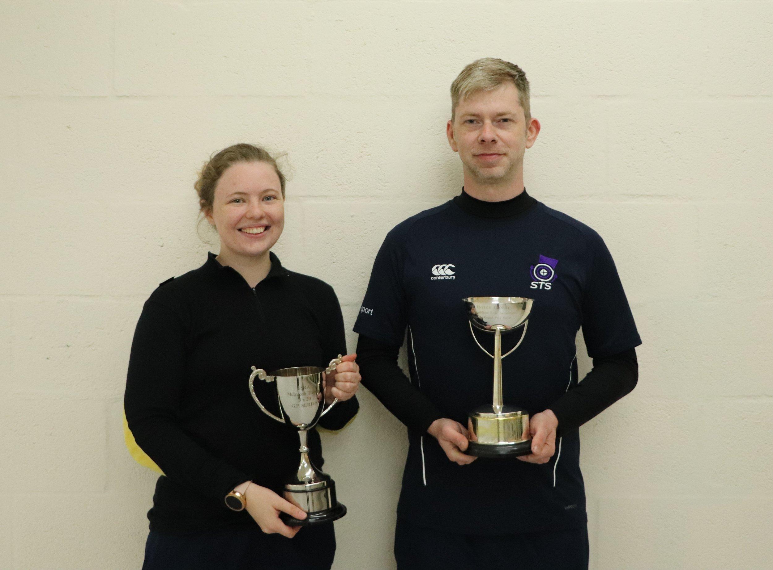 Ruaraidh and Vikki with their trophies