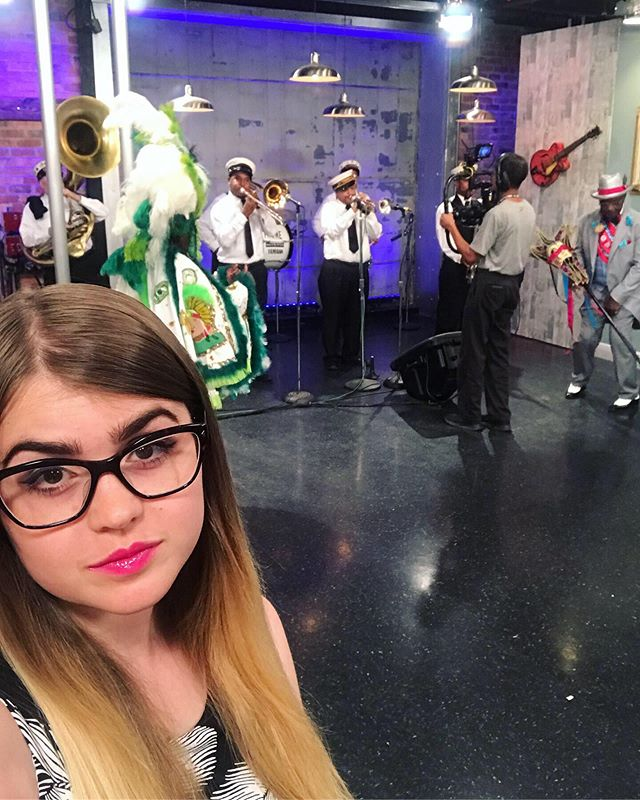 Thank y'all for having us @wwltv! We can't wait for @downriverfest next weekend at the @nolajazzmuseum with @tremebrassband. #WWLTV #BeOn4