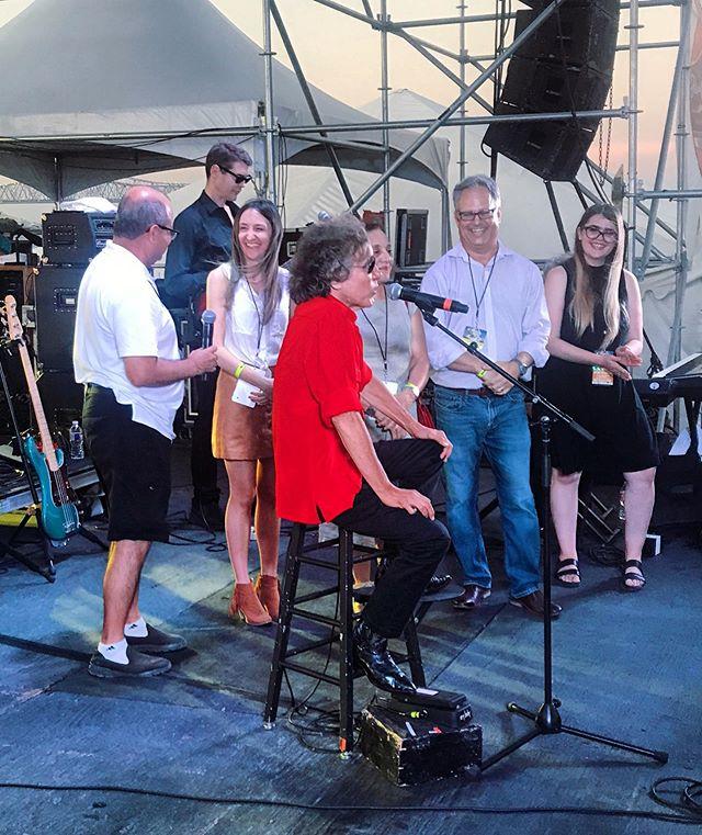Presenting lifetime achievement award to José Feliciano at @gretna_fest tonight.  _ #josefeliciano #gretnafest #music
