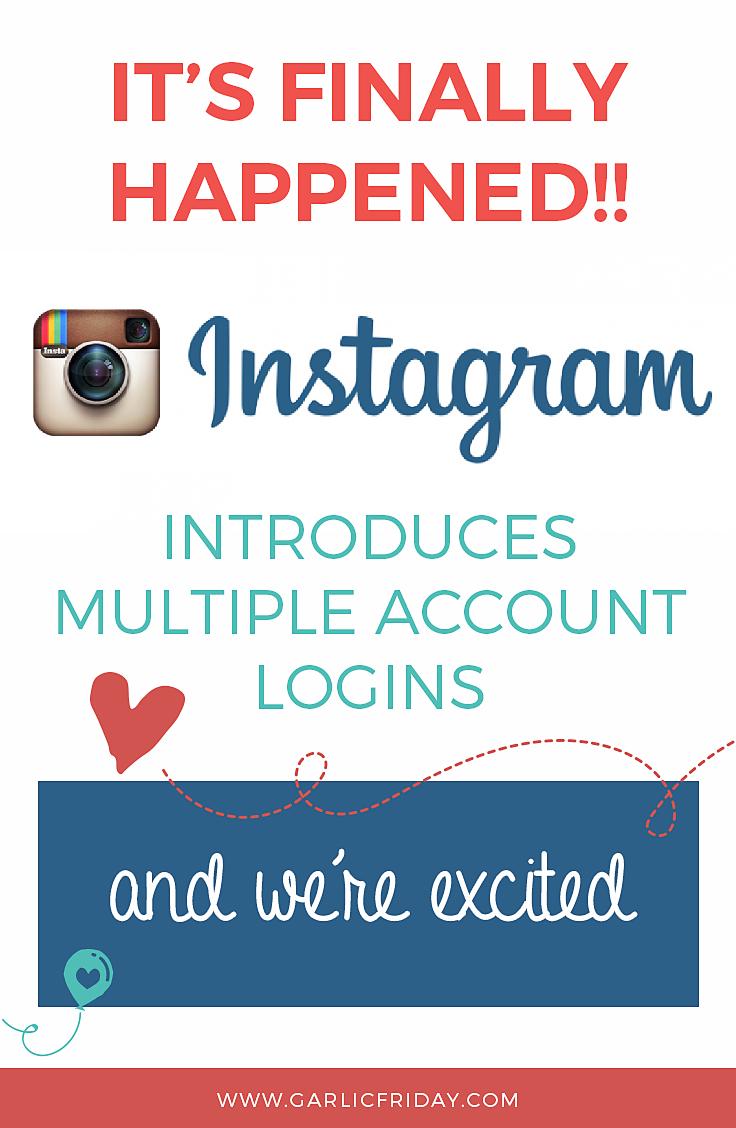Instagram introduces multiple account logins