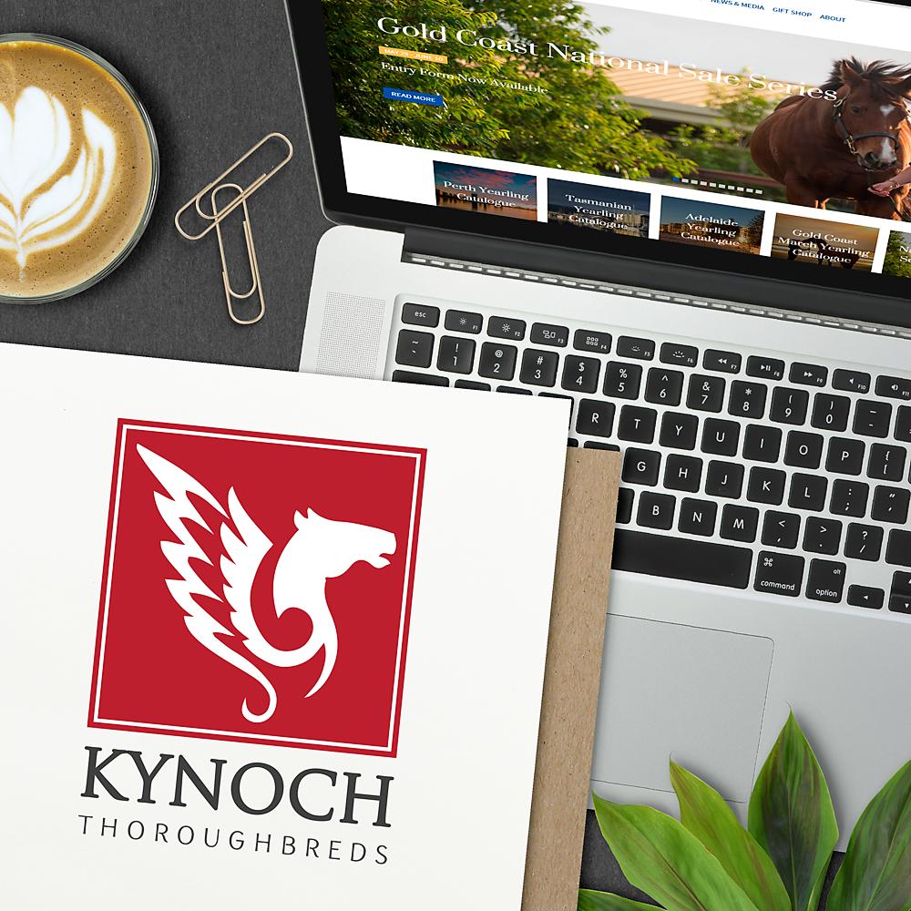 The alternative logo for Kynoch Thoroughbreds