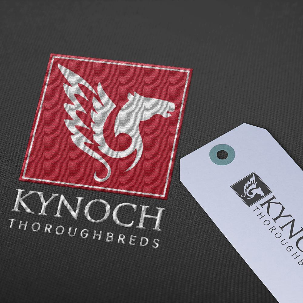 Embroidered Logo for Kynoch Thoroughbreds - brand design by Garlic Friday Graphic Design | www.garlicfriday.com