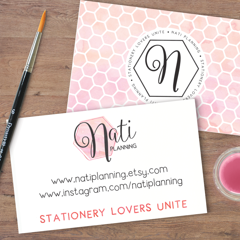 Beautiful & Feminine Watercolour brand for Nati Planning - www.garlicfriday.com