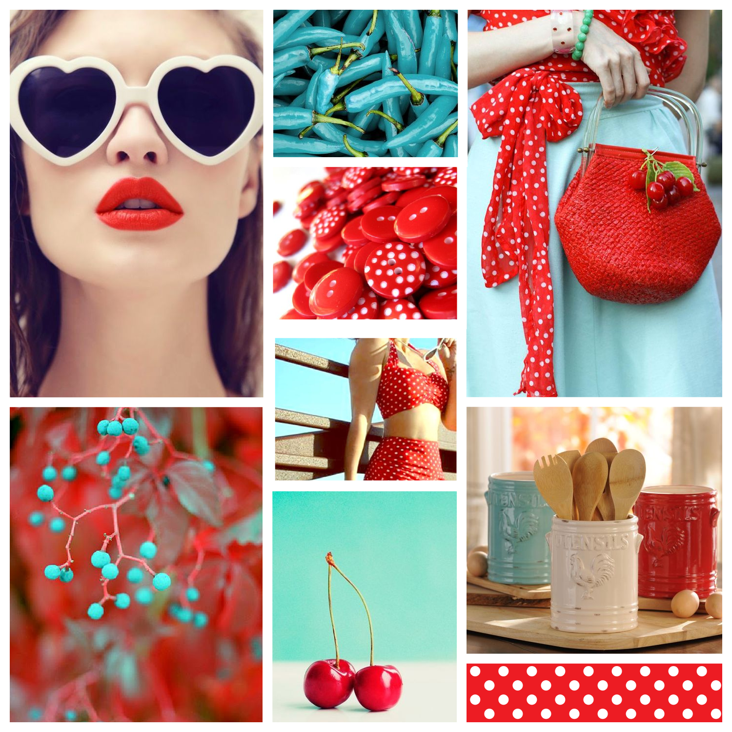 Moodboard Monday #06 - Turquoise & Red - www.garlicfriday.com