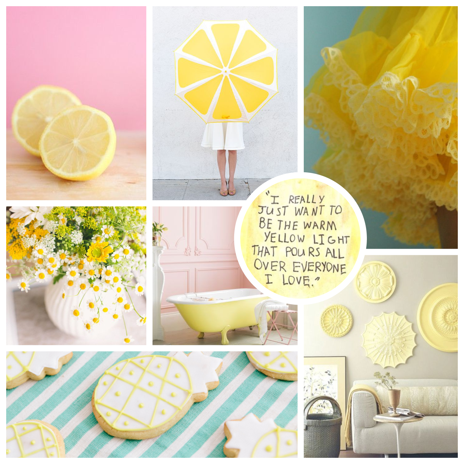 Monday Moodboard #08 - Lemon Squeeze - see more colour themes and brand inspiration at www.garlicfriday.com