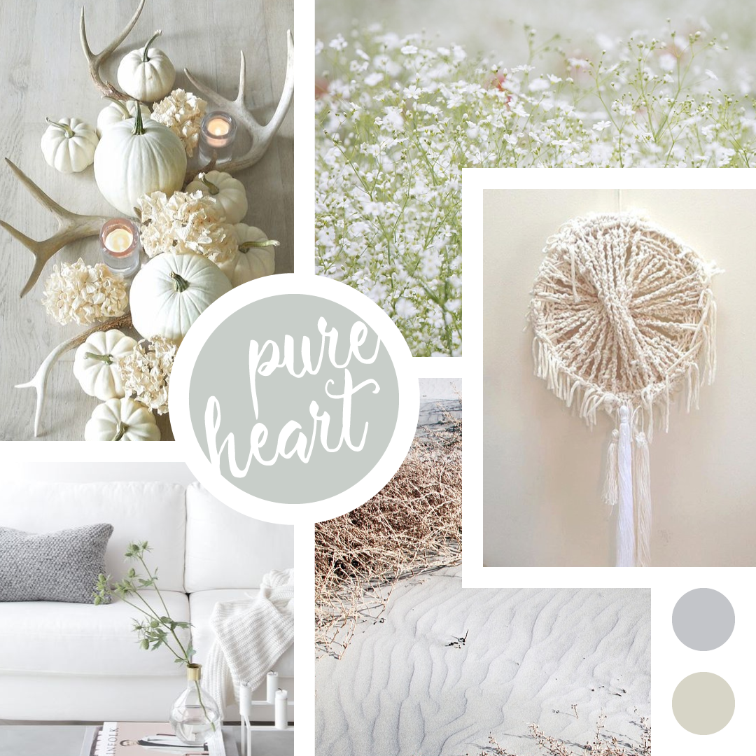 Shades of White - Winter Moodboard - Colour theme by Garlic Friday Design