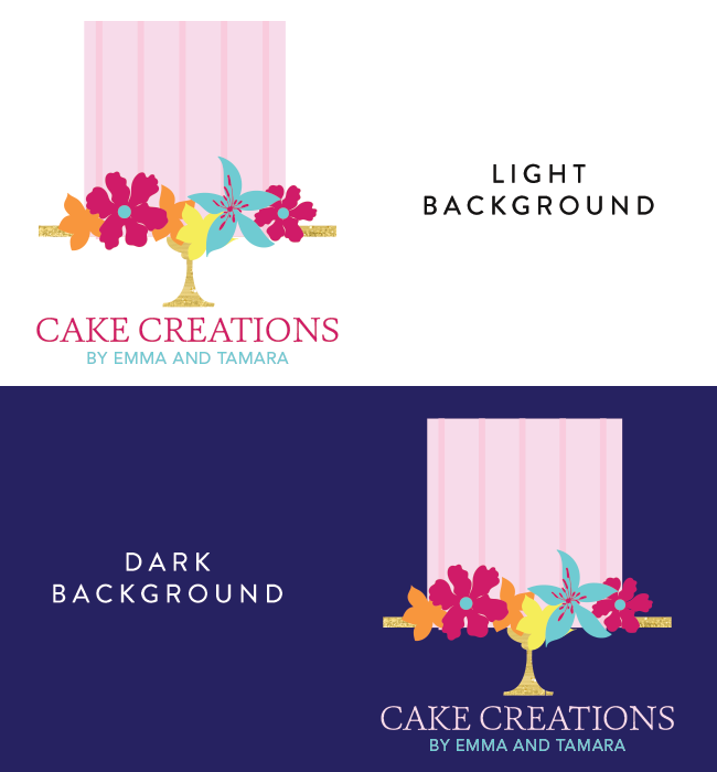 Logo Concept for Cake Creations - by Garlic Friday Design