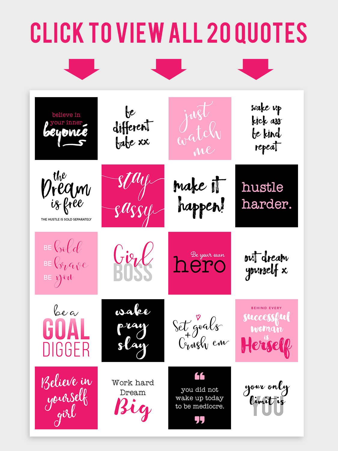 The Epic Girl Boss Instagram Bundle Garlic Friday Design