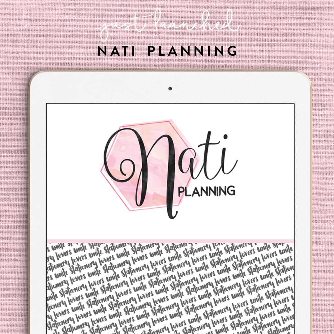 Sophisticated & Feminine Watercolour brand for Nati Planning - www.garlicfriday.com