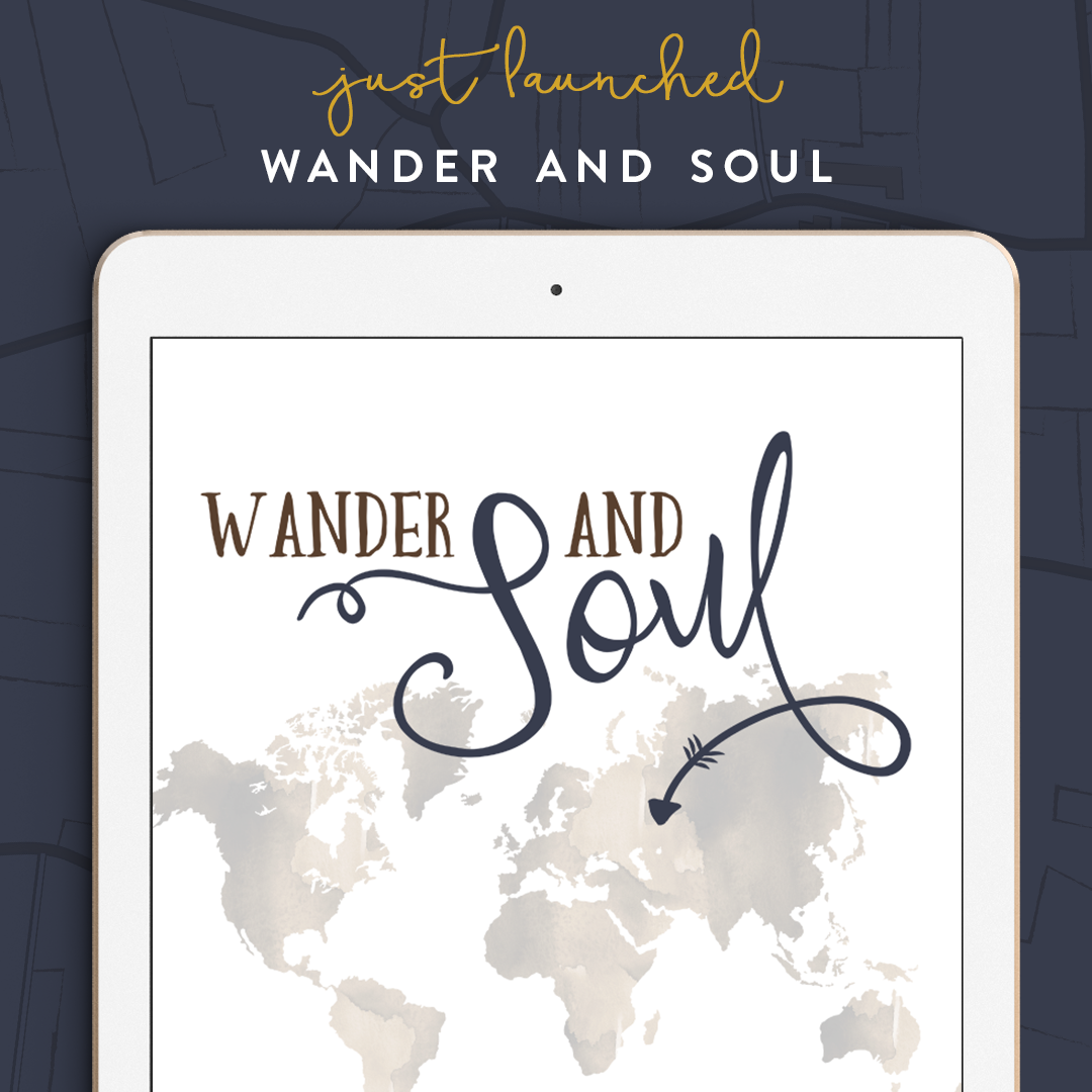 Wander and Soul - Logo and Brand Identity for Etsy Seller with a travel theme