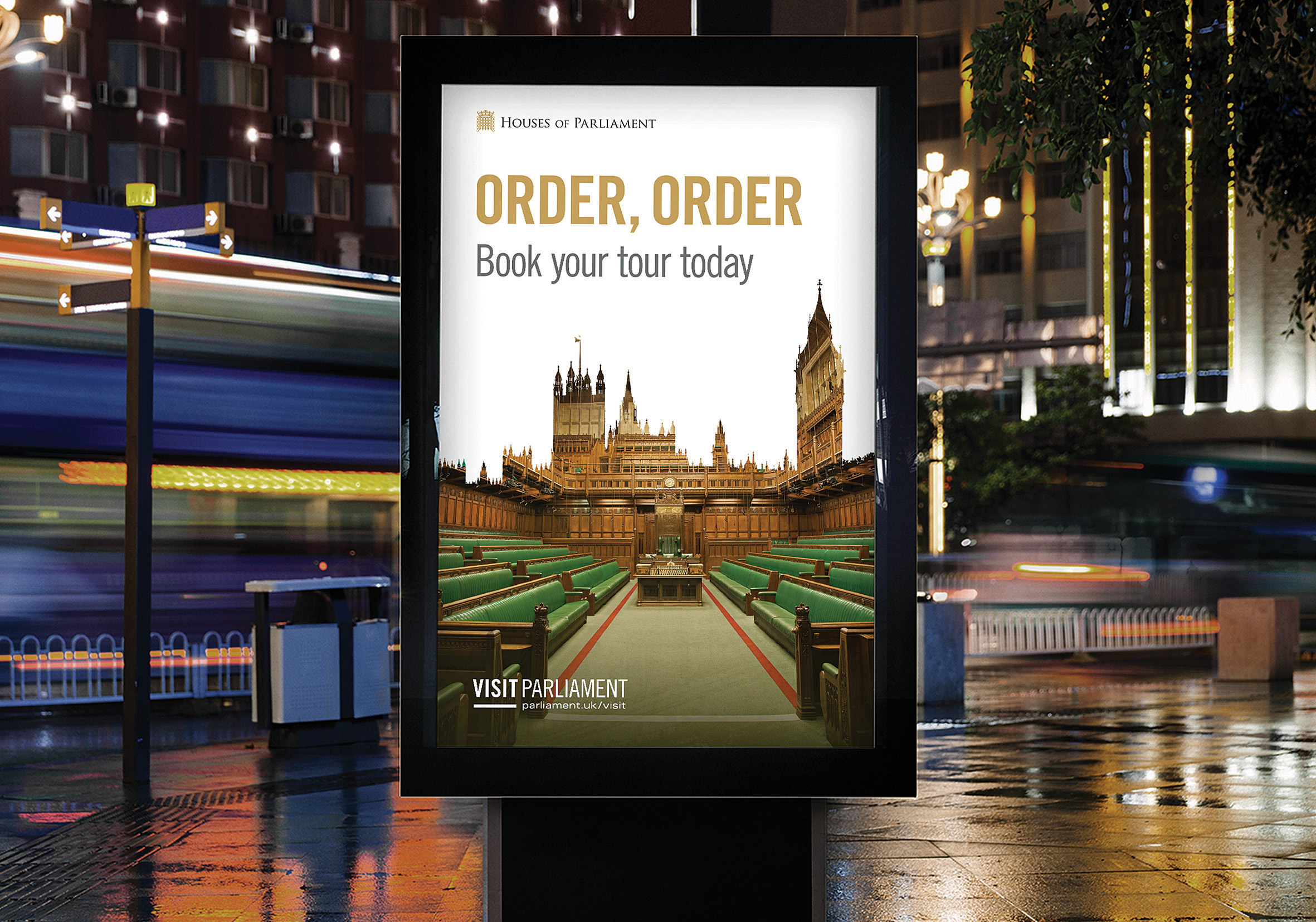 Extensive poster campaign across the London Tube and mainline rail network