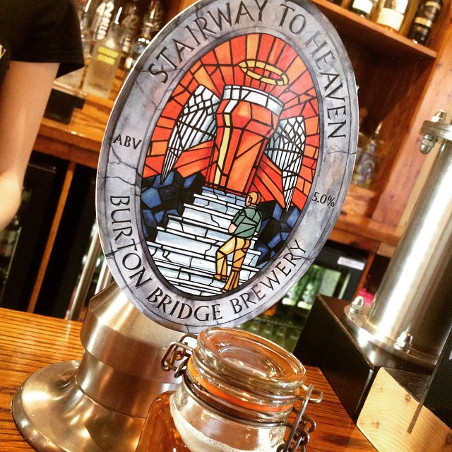 "Check out our new #GuestAle.. Burton Bridge Brewery ""Stairway To Heaven"" Abv 5% lovely amber ale!"