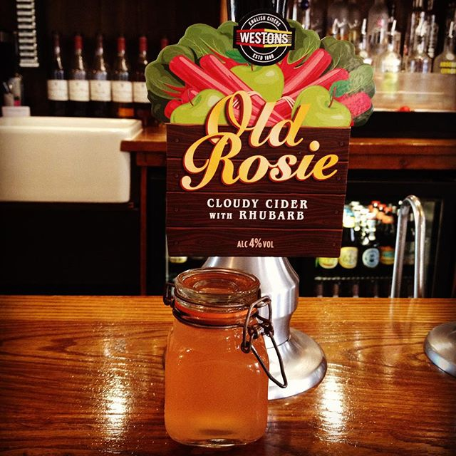Our new guest cider fresh on today.. 'Westons Cloudy Cider with Rhubarb' perfect for these summer days!