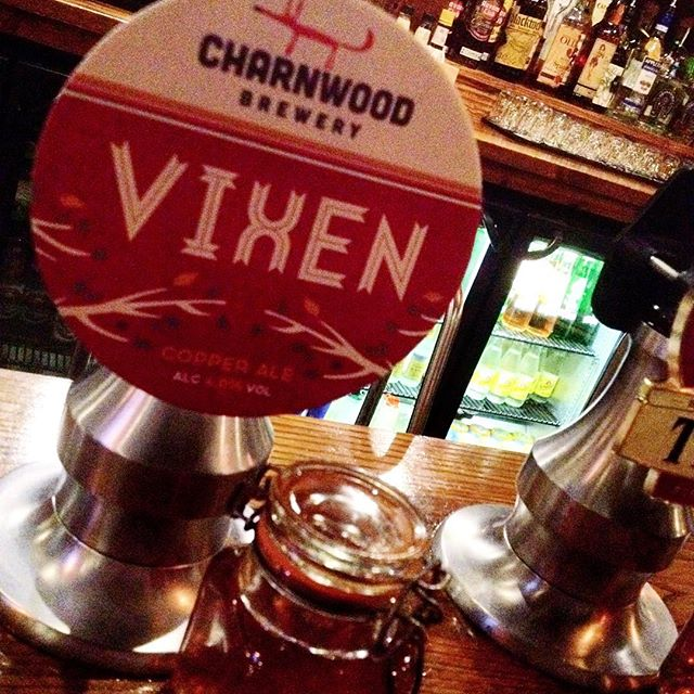 "Charnwood Brewery, copper ale ""VIXEN"" one of our new favourite #GuestAles this summer!"