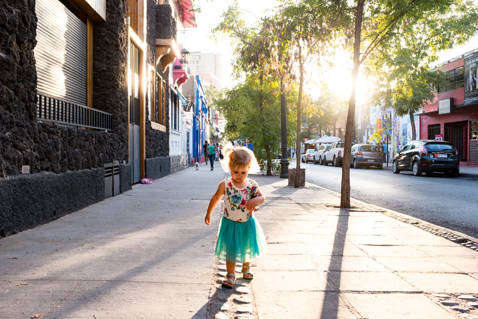 Sunny streets of Santiago