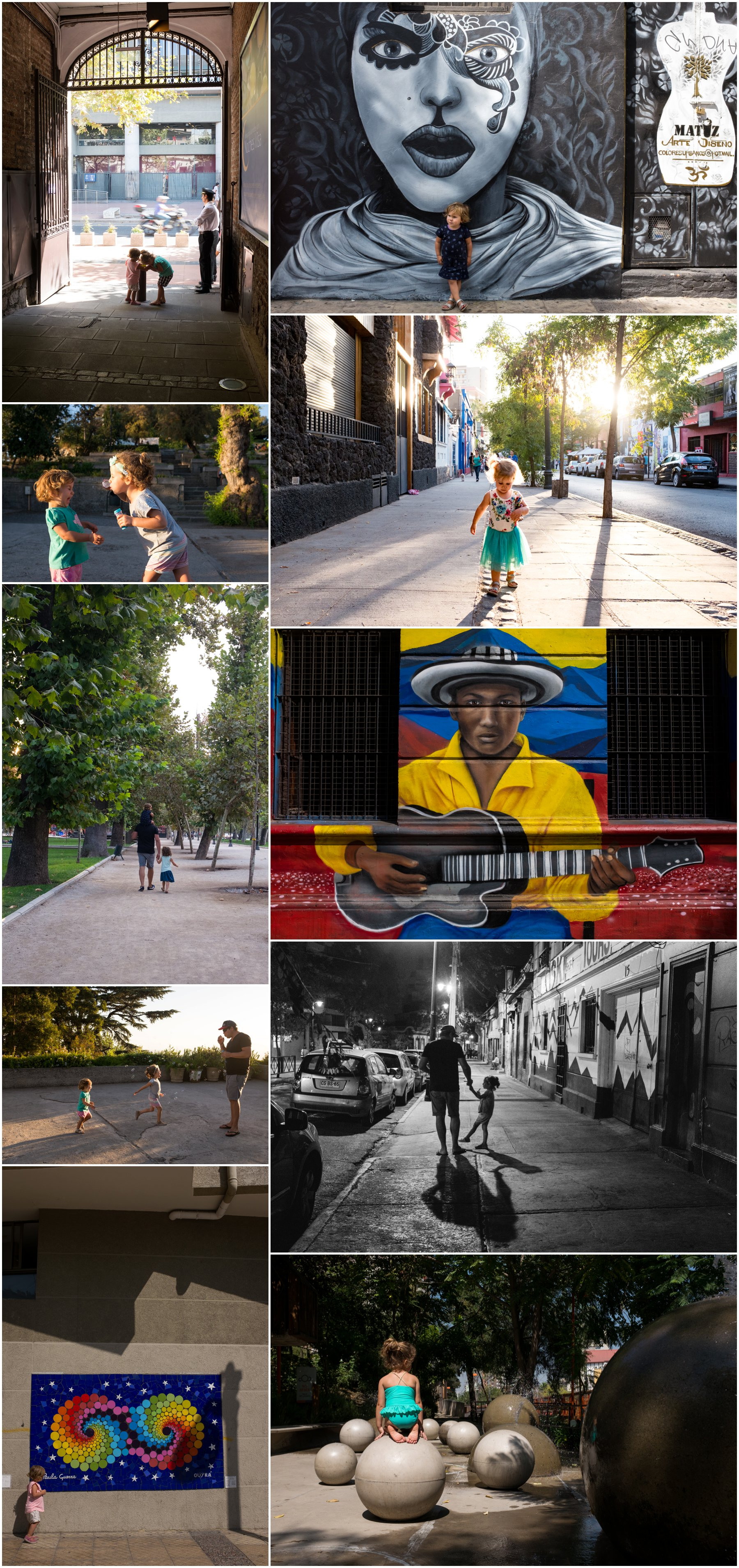 Sunny Santiago - the streets, the parks and the paintings