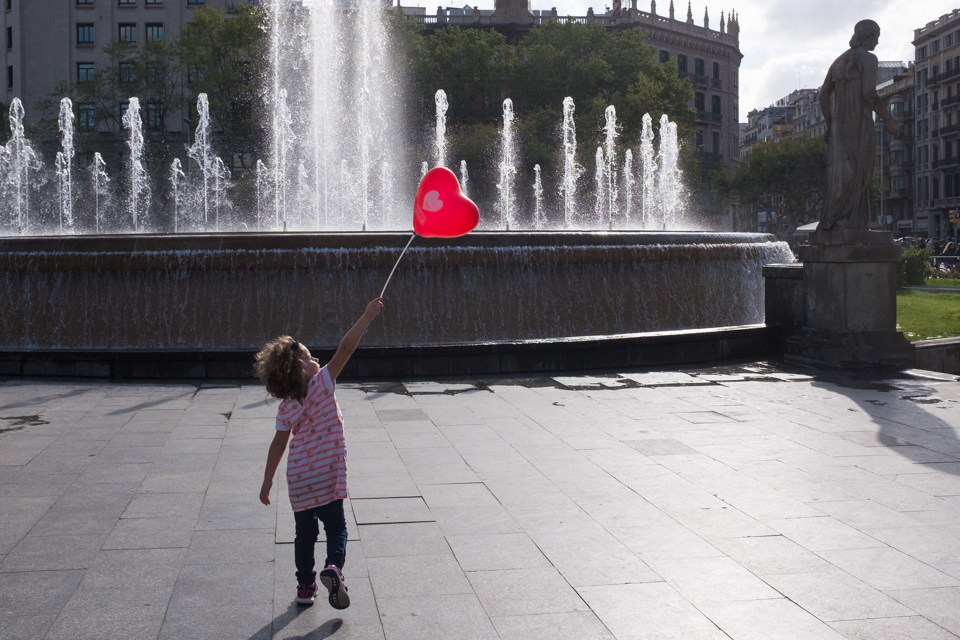 Love in Placa Catalunya