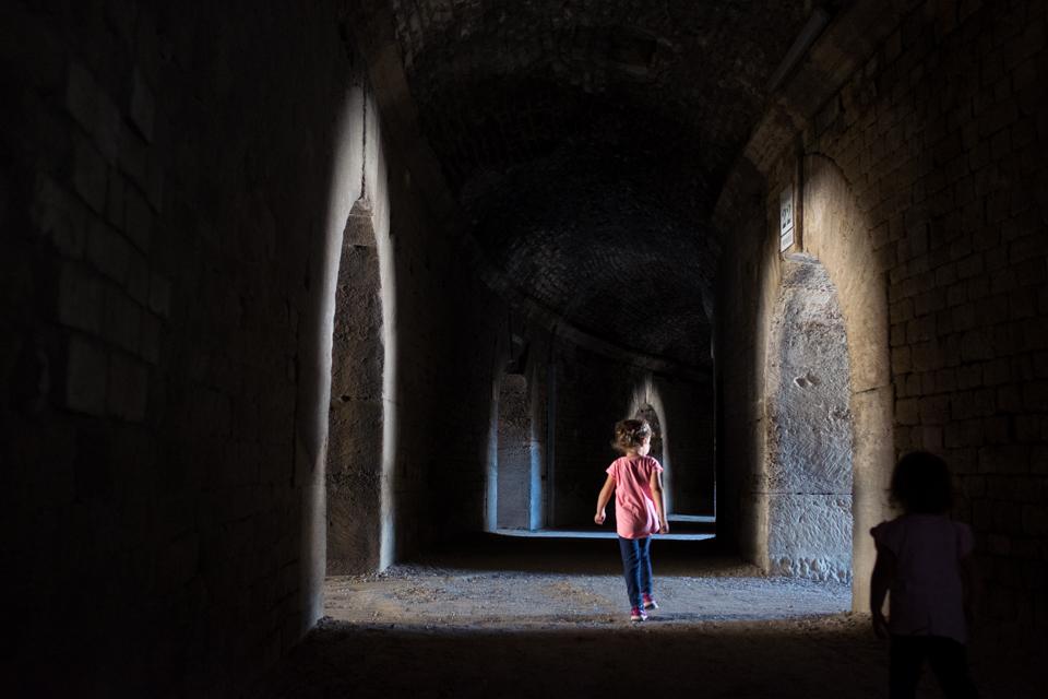 Running through Roman tunnels