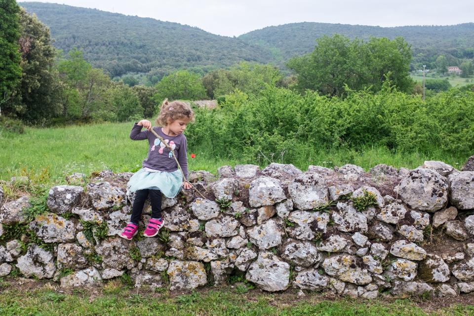 When she's not climbing trees she's climbing walls | Simignano