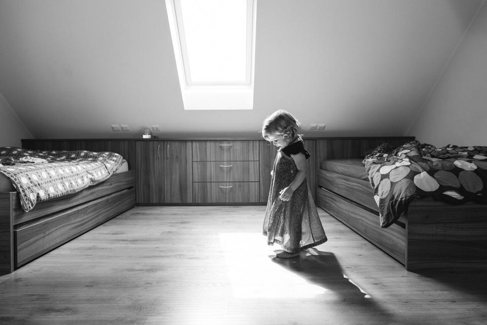 Elsa in the attic