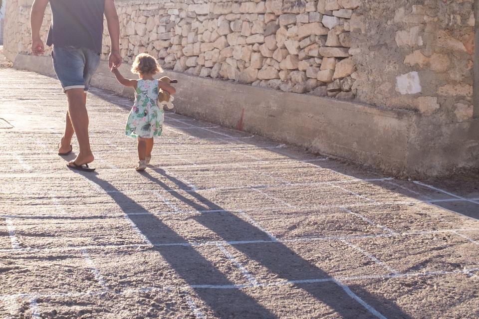 Evening walks to the village