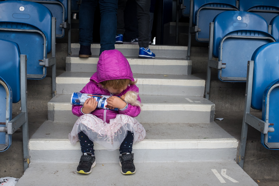 Barbie at the football