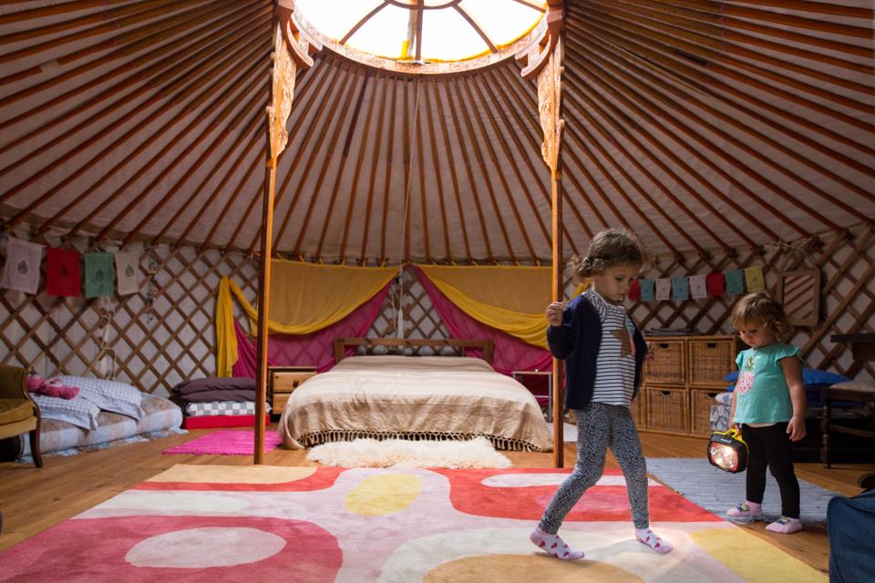 Adventures in a yurt