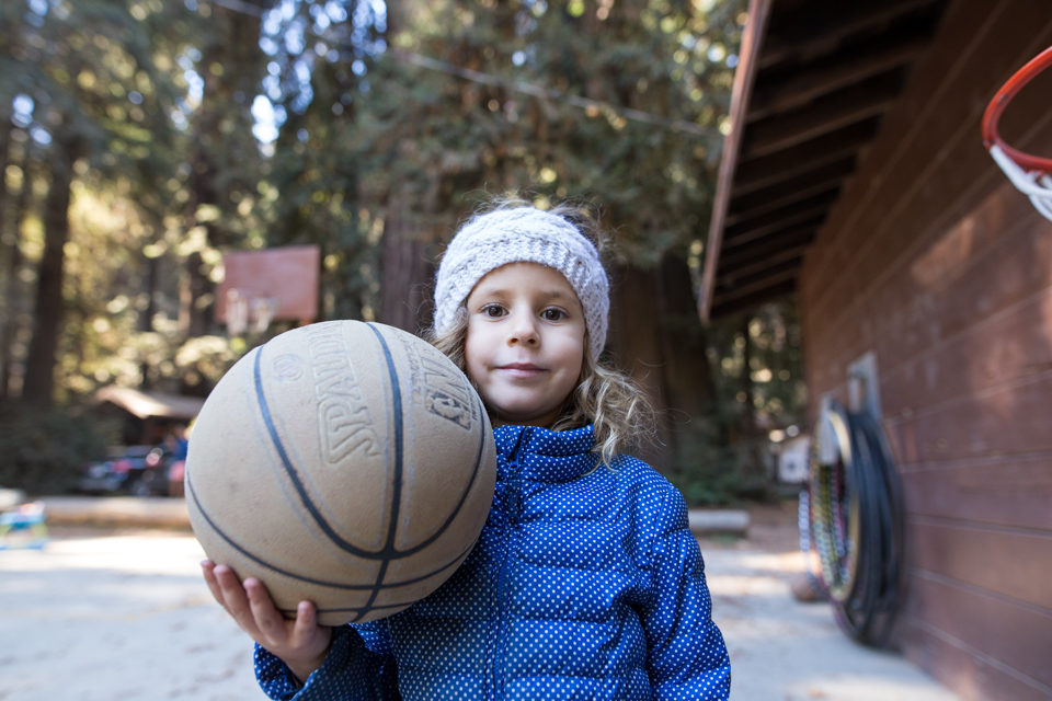 Basketball in the forest
